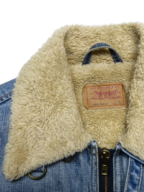 Levi's washed blue denim jacket with sherpa
