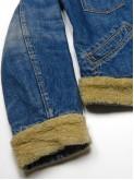 Levi's washed blue denim jacket with sherpa