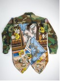 BDU camouflage shirt jacket with foulard back