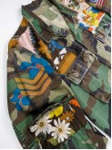 BDU camouflage shirt jacket with foulard shoulders