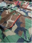 BDU camouflage shirt jacket with foulard back