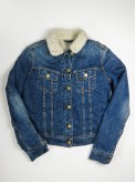Lee washed blue denim jacket with sherpa