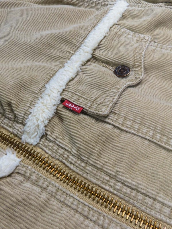 Levi's beige corduroy jacket with sherpa