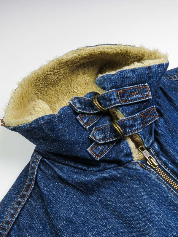 Levi's dark blue denim jacket with sherpa