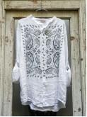 Oversize Linen Shirt with Bandana Design