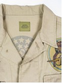 Beige BDU shirt jacket with old school tattoos