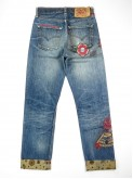 Levi's 501 jeans with old school tattoo