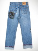 Levi's 751 jeans with dragon tattoo