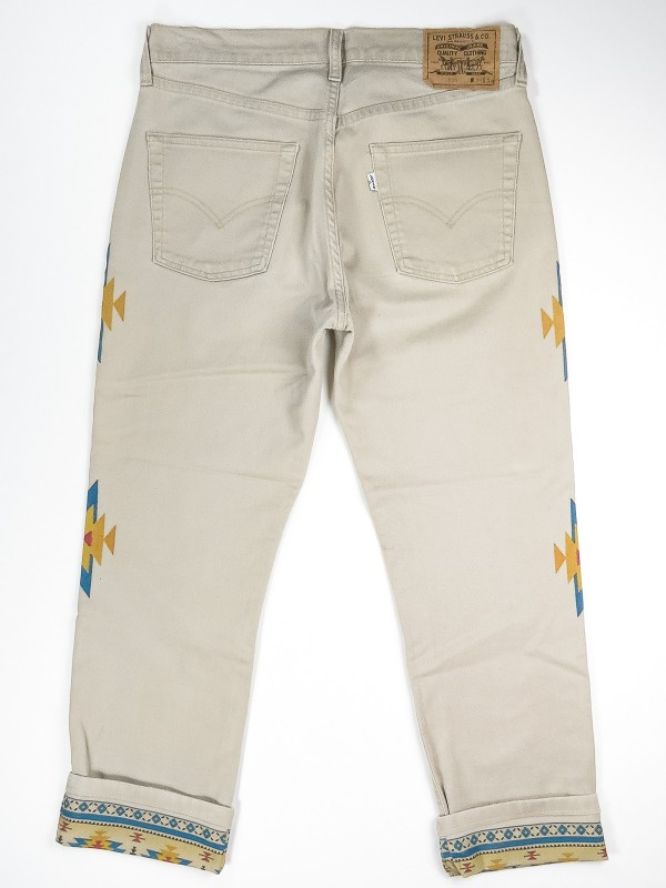 Levi's 530 jeans with Navajo design