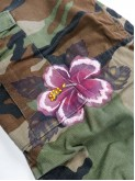 BDU camo pants with hibiscus flowers