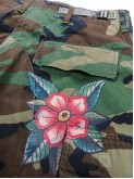 BDU camo pants with old school flowers